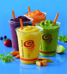 Jamba Juice: Be a Sneaky Chef with New Fruit and Veggie Smoothies! My favorite road trip snack Healthy Fruit Smoothies, Smoothies For Kids, Yogurt Smoothies, Juice Smoothie, Breakfast Smoothies, Healthy Fruits, Healthy Drinks, Healthy Food, Juice Cup