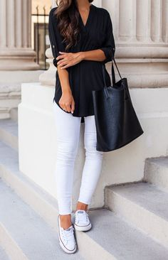 Black And White Casual Outfit by The Darling Detail