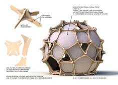 Geodesic Sphere, Geodesic Dome Homes, Organic Architecture, Architecture Design, Casa Bunker, Glamping, Dome Structure, Digital Fabrication, Dome House