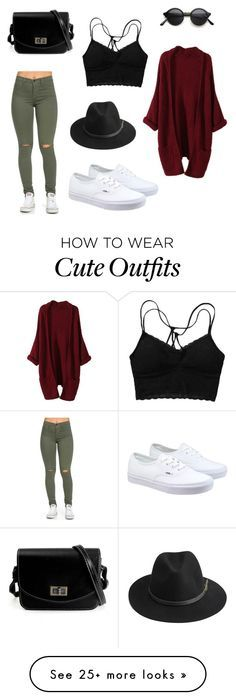 """Cute Spring Outfit"" by urbanlengend on Polyvore featuring Vans and…"