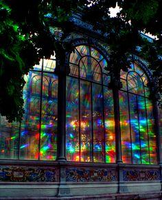 Palacio de Cristal del Retiro, Madrid. Modelled on London's Crystal Palace. Architect Ricardo Velázquez Bosco