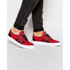 Adidas Originals Men's Adi Ease Lace Up Leather Trainer's Shoe   eBay