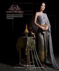ชุดไทย ชุดไทยแต่งงาน ชุดไทยดารา ชุดแต่งงานดารา