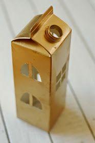Laterne aus Tetra Pak / Lantern made of beverage carton / Upcycling