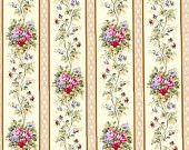 Dolls House Wallpaper 1/12th or 1/24th scale Quality Paper Cream Dollhouse Miniature #39