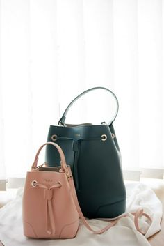 furla bag stacy mini. furla bagy stacy medium, bucket bag, second hand, pink, green, sustainable, bag, accessory