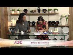 ESPECIAL DIA DAS MULHERES - Aprenda a fazer lindos brincos em cerâmica plástica! - YouTube