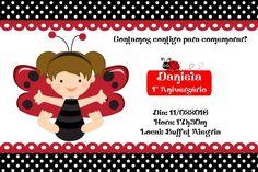 Convite digital personalizado Joaninha 005