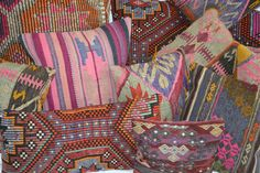 Have you seen our stash of vintage kilim pillows over at SwoonFor.com? Each is one of a kind and looking for a home!