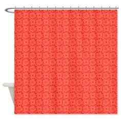Mod Coral Design 1 Shower Curtain On CafePress.com