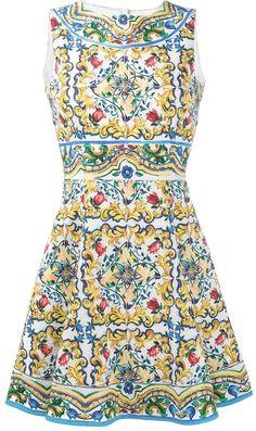 133ffa962 Dolce & Gabbana Majolica print dress La Dolce Vita, Mono, Vestidos De  Verano,
