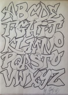 Graffiti Alphabet Street Fonts From Around The World Pdf