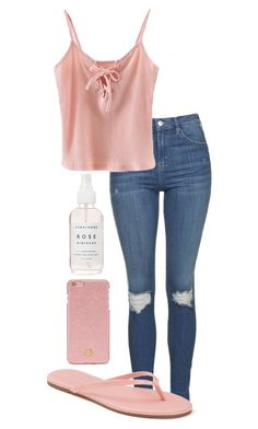 """Let me be your last first kiss"" by r4wr-its-nic0le ❤ liked on Polyvore featuring Topshop, Chicnova Fashion, LC Lauren Conrad and Tory Burch"