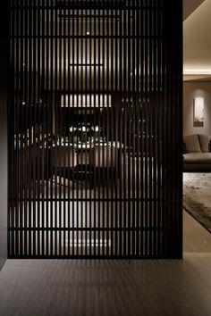 Living Room Partition Design, Living Room Divider, Room Divider Doors, Room Partition Designs, Home Living Room, Living Room Designs, Divider Screen, Partition Walls, Room Divider Bookcase
