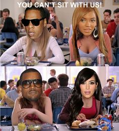 Now, I LOVE KANYE WEST and tolerate Kim K..... but when it comes to Jay and B, everything else fails.       LMAO THIS MEME.