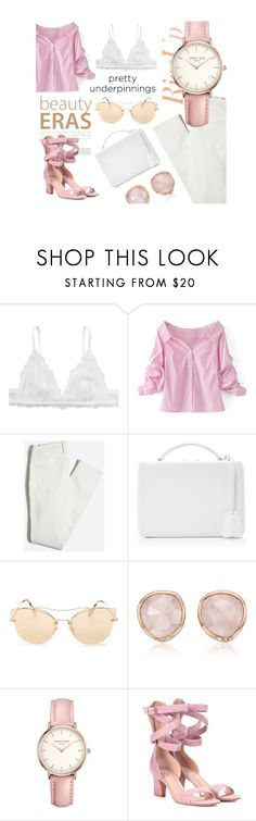 """""""The Prettiest Underpinnings - Wear Your Cutest Bralette And Feel The Cutest"""" by leonor-trincao ❤ liked on Polyvore featuring Monki, WithChic, Mark Cross, Miu Miu, Monica Vinader, Topshop and Valentino"""