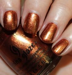 "WANT. China Glaze ""Harvest Moon"" from the Hunger Games collection."