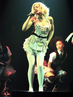 gwen stefani on Stylehive. Shop for recommended gwen stefani by Stylehive stylish members. Get real-time updates on your favorite gwen stefani style. Gwen Stefani Music, Gwen Stefani And Blake, Gwen Stefani Style, Young Gwen Stefani, Foxy Costume, Bodysuit Costume, Gwen Stefani Pictures, Hollaback Girl, White Tights