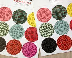 Korean pattern sticker