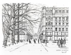 """Check out new work on my @Behance portfolio: """"Winter in Helsinki Illustrated by PapiiziipaP"""" http://be.net/gallery/46678867/Winter-in-Helsinki-Illustrated-by-PapiiziipaP"""