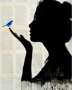 Artist: Louie Jover ~ love bluebirds