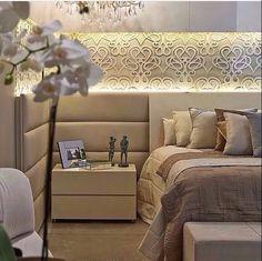 dormitório luxo contemporâneo- veludo, cristais, geométricos, formas retas