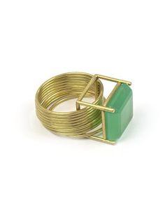 Etsuko Sonobe ring 2005, 20ct gold, crisoprasa