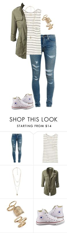 """A whole new world"" by madisonpeters00 ❤ liked on Polyvore featuring Yves Saint Laurent, Aubin & Wills, MANGO, J.TOMSON, Topshop and Converse"
