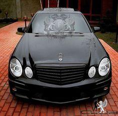 Mercedes E55 Amg, Mercedes Benz Cars, Dream Auto, Dream Cars, Black Wheels, Audi R8, Custom Cars, Volkswagen, Automobile