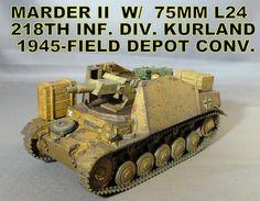 Marder II w/75mm L24 218th Inf. Div. Kurland 1945-Field Depot Conv.