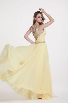 A Line Sweetheart Neck Hollow Back Long Tousle Beads Bridesmaid Dresses