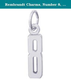 """Rembrandt Charms, Number 8, 14K White Gold. Every Rembrandt Charm is a miniature work of art created by 40 skilled artisans. Each piece is stamped with the trademark """"RQC"""" and metal quality mark. Sterling silver charms are plated with rhodium to prevent corrosion or tarnishing and to extend their life and beauty. Every piece comes with a heavy duty jump ring that may easily be twisted open or closed for TEMPORARY placement. It is recommended to have each charm soldered onto your bracelet…"""