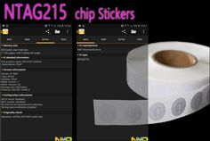 Wholesale 100pcs/lot Dia.25mm NFC NTAG215 Stickers RFID Tag NFC Tags Sticker #Affiliate