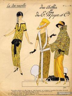 1923 E. MEYER & Cie ''Les Idées Nouvelles de la Mode'' Fashion Art Deco Pochoir ''Très Parisien''