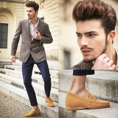 #style #men's #fashion #outfit's #Guido #Maggi #Shoes #winter #dapper #elegant #jeans #blazer #hair