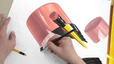 중앙대 기초디자인 연필+녹색종이+투명자 채색 과정 - 강남피플미술학원  #기초디자인 #화면구성 #기디 #미대입시 #과정 #동영상