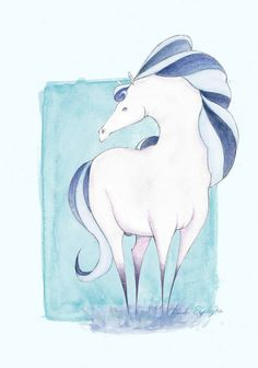 Horse character design https://www.facebook.com/amanda.esplugues #horse #characterdesign #horsecharacter #horsedrawing #drawing #watercolour #watercolourhorse