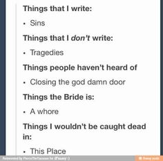 Image result for i write sins not tragedies funny