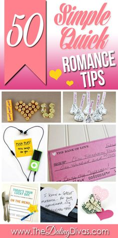 SO many cute, clever, and QUICK ideas that can all be done in 10 minutes or less!!!  Hubby's gonna LOVE me!  www.TheDatingDivas.com #romancetips #forhim #marriage