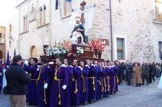 Virgen de las angustias en Plaza de Santa María (Cáceres)