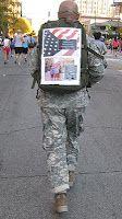 Chicago Marathon 10/10/10: Saluting the troops