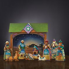 Jim Shore Large Nativity Set with Creche and 10 Figurines by Heartwood Creek RETIRED by Jim Shore Jim Shore Christmas, Christmas Nativity Set, Christmas And New Year, All Things Christmas, Christmas Time, White Christmas, Christmas Lights, Christmas Ideas, Merry Christmas
