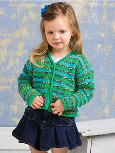 Knitting - Patterns for Children & Babies - Bubbles Cardigan