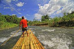 Bamboo Rafting at Amindit River, Loksado- South Borneo