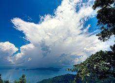 Volcano lake, Tagaytay, Luzon, the Philippines.