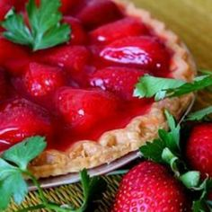 Two Tier Strawberry Pie food-and-drink