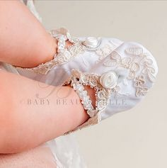 Etsy の Kristina Booties Girls Christening by BabyBeauandBelle