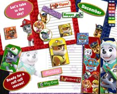 Paw Patrol Journal Kit Journal Pages, Paw Patrol, High Quality Images, Vibrant Colors, Card Stock, Kit, Bright Color Schemes, Bright Colors