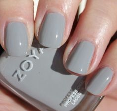 Zoya- Dove (light gray) nail polish. Beautiful color. I am obsessed with Gray polishes- this shade is downright perfect. Also a great nail art color.