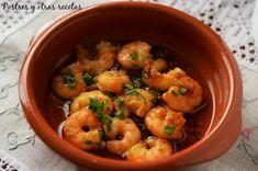 Gambas al ajillo Shrimp, Cooking, Sign, Food, Gastronomia, Lobster Stew, Garlic Soup, Garlic Prawns, Dishes